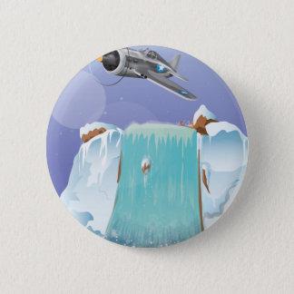 Arktisches Abenteuer Runder Button 5,7 Cm