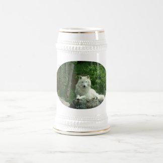 Arktisches Wolf-Bier Stein Bierglas