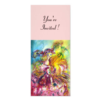 ARLECCHINA VIOLINIST Karneval-Maskerade-Party 10,2 X 23,5 Cm Einladungskarte