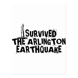 Arlington-Erdbeben Postkarte