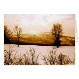 Arlington, schneebedeckter Berg VT Karte
