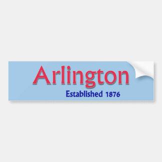 Arlington stellte Fahrzeug-Autoaufkleber her Autoaufkleber