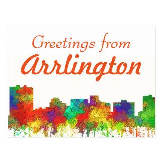 Arlington Texas Skyline-SG Postkarte