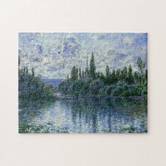 Arm der Seines nahe Vetheuil Monet schöner Kunst Puzzle