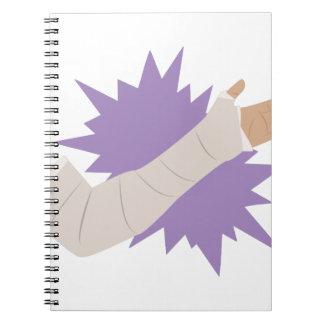 Arm-Form Notizblock