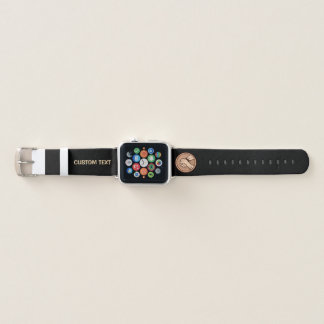 Arm-Wrestling Bronze Apple Watch Armband