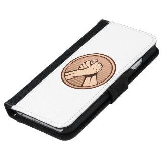 Arm-Wrestling Bronze iPhone 6/6s Geldbeutel Hülle