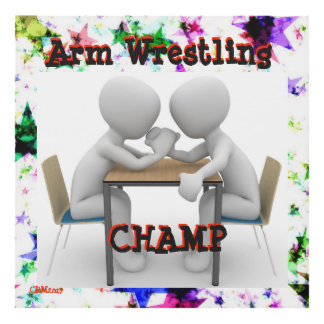Arm Wrestling Champ Wall Hanging