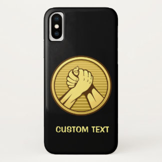 Arm-Wrestling Gold iPhone X Hülle