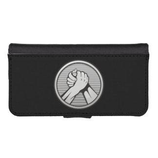 Arm-Wrestling Silber Geldbeutel Hülle Für Das iPhone SE/5/5s