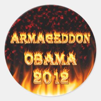 Armageddon ObamaAutoaufkleber 2012 Runder Aufkleber