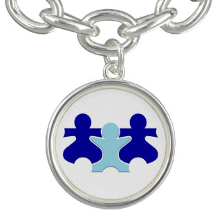 Armband mit Anhänger stütze mich ich Autismus!