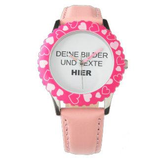 Armbanduhr für Mädchen komplett selbst gestalten