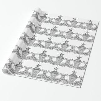 Armee-ältere Sprungs-Flügel Geschenkpapier