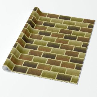 Armee-Backsteinmauer-Packpapier Geschenkpapier