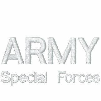 ARMEE, besondere Kräfte Bestickte Fleece Track Jacke