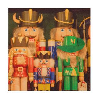 Armee der Weihnachtsnussknacker Holzleinwand