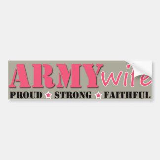 Armee-Ehefrau Autoaufkleber