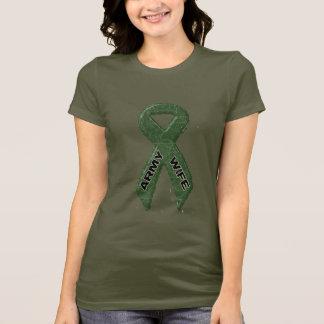 Armee-Ehefrau-Camouflage T-Shirt