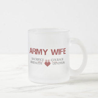 Armee-Ehefrau-Opfer, Stärke, Mut Mattglastasse
