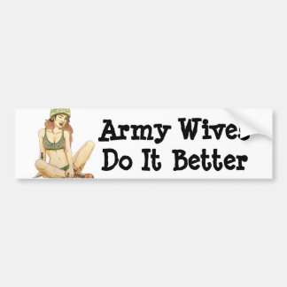 Armee-Ehefrauen verbessert es Autoaufkleber