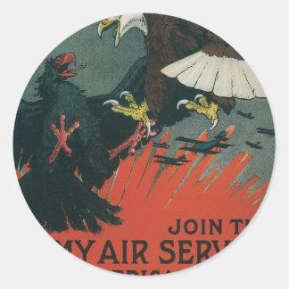 Armee-Fluglinienverkehr circa 1917 Stickers
