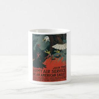 Armee-Fluglinienverkehr circa 1917 Kaffeetasse