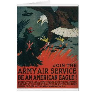 Armee-Fluglinienverkehr circa 1917 Grußkarte