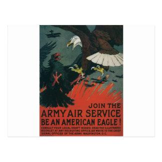 Armee-Fluglinienverkehr circa 1917 Postkarte