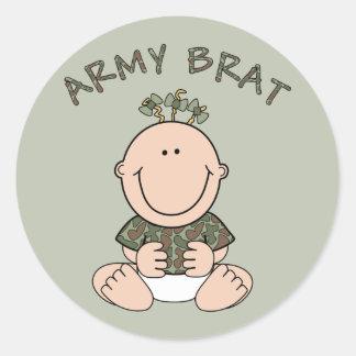 Armee-Gör (Mädchen) Runder Aufkleber