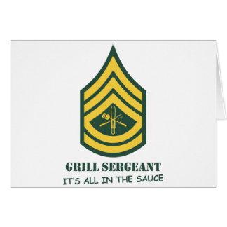 Armee-Grill-Sergeant Karte