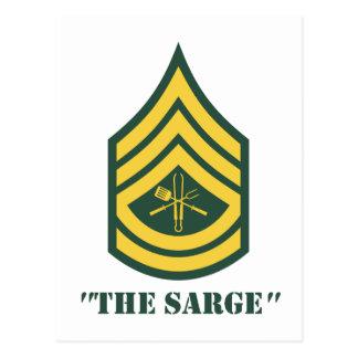 Armee-Grill-Sergeant Postkarte
