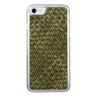 Armee-grünes diagonales Korbgeflecht-geometrisches Carved iPhone 8/7 Hülle