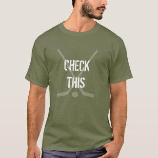 Armee-grünes Hockey-Shirt - Karo dieses T-Shirt