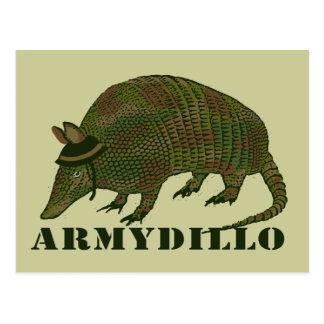 Armee-Gürteltier-Einzelteil Postkarte