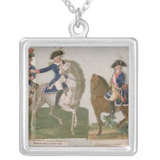 Armee-Kommandant und ein Offizier Halskette Mit Quadratischem Anhänger