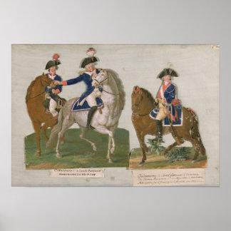 Armee-Kommandant und ein Offizier Plakatdruck