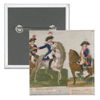 Armee-Kommandant und ein Offizier Quadratischer Button 5,1 Cm