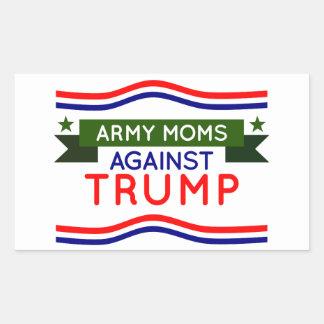 Armee-Mammen gegen Trumpf Rechteckiger Aufkleber