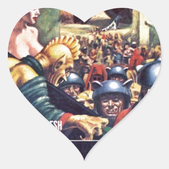 Armee mit Funn y Sturzhelmen Herz-Aufkleber