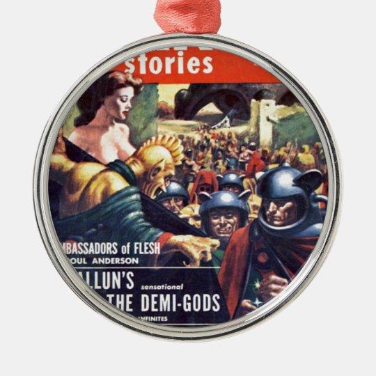 Armee mit Funn y Sturzhelmen Rundes Silberfarbenes Ornament