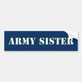 Armee-Schwester Autoaufkleber