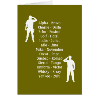 Armee-Soldat-Lautalphabet-Anfängers-Militär-Job Karte