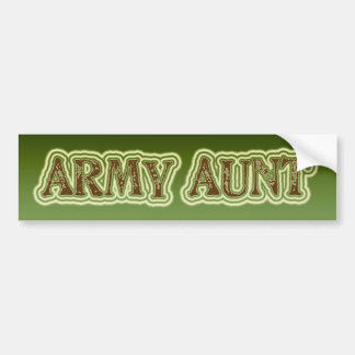 Armee-Tante Autoaufkleber