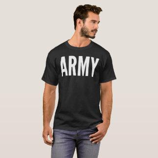 Armee-Text-Typografie-T - Shirt