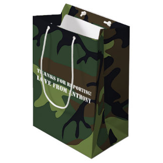 Armee-themed Geburtstags-Partygast Mittlere Geschenktüte