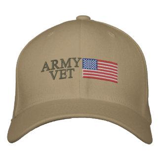 Armee-Tierarzt mit amerikanischer Flagge Bestickte Baseballmützen