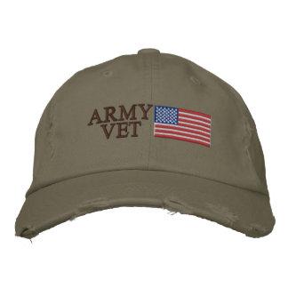 Armee-Tierarzt mit amerikanischer Flagge Bestickte Baseballmütze