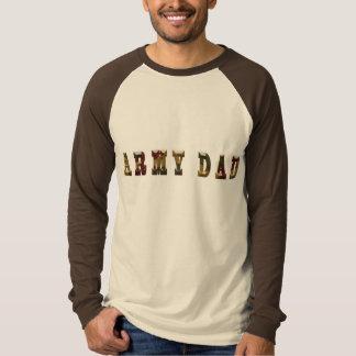 Armee-Vati grundlegender TAN/Browns langer T-Shirt