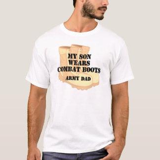 Armee-Vati-Sohn-Wüsten-Kampf-Stiefel T-Shirt